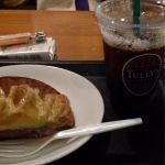 TULLY'S COFFEE モリシア津田沼店コーヒーとアップルパイ