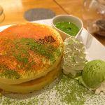 北欧館 HEPナビオ店/月替わりの抹茶パンケーキ*\(^o^)/*中に栗とあんこが入ってて、和尽くしのパンケーキでした〜〜相変わらずの生地の素晴らしさ