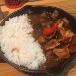 野菜を食べるカレー camp express エキュート品川サウス店  焼き茄子とベーコンのカシミールカレー