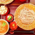 わさび味噌せいろそば定食。豚が入ったつけ汁ウマイ(๑˃̵ᴗ˂̵)و信州そば処 そじ坊 倉敷イオンモール店