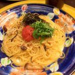 京風スパゲッティー 先斗入ル The CUBE店:明太子と湯葉の青ジソ風味スパゲティー