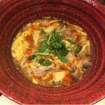 麺匠の心つくし つるとんたん 羽田空港店  もち豚と旬野菜 和風サンラータンのおうどん