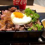 1ポンドのステーキ タケルハンバーグ UMEDA FOOD HALL