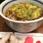 九条ねぎのかき揚げそばとしば漬けおにぎりセット…680円@麺串
