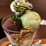 nana's green tea 町田東急ツインズ店。生チョコ抹茶パフェ
