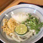 醤油うどん(小)…330円@めりけんや 高松駅前店