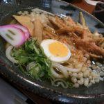 本日のランチは、饂飩の四國 さんプラザ店で、またまたうどんです。かき揚げとキツネとゆで卵がのってます。ごちそうさまでした。