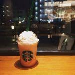 スターバックスコーヒー 東京スカイツリー・ソラマチ西1階店。ピーチ・イン・ピーチフラペチーノ。ピーチ感満載でなかなか美味。#スターバックス #ピーチ #フラペチーノ