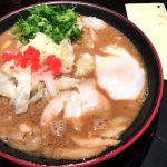 博多一風堂 Marunouchi ソースつけ麺。もんじゃみたい。