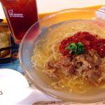 ミスドの冷やし汁そば牛キムチセット¥640冷やし汁そば美味しいじゃん!