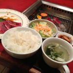 牛兵衛 川崎ダイス店にて、焼肉ランチ。100gでちょうどいい♫