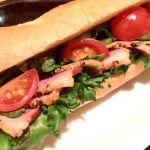パリサンドイッチ 鴨スモーク&熟成バルサミコソース Paris Sandwich with Smoked Duck & Balsamic Sauce…¥450 エクセルシオールカフェ デュオこうべ店