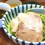 """札幌市厚別区の""""雨は、やさしく""""。抹茶あえ辛つけ麺の大、生たまご付で注文。スープ割りじゃなくお茶割り。美味かったけど大にしたせいかお茶割りにした時少し薄かったのが残念…(^_^;)"""