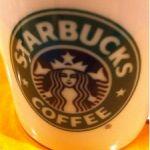 スターバックス・コーヒー 六甲アイランド店。カフェラテ飲んでます。