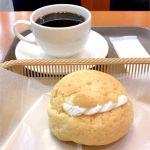 カスカード ゼスト御池店:ヨーグルトメロンパンとコーヒー