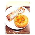 タップハウス カボチャシチューのパンとアーモンドチョコのパイ♡このお店のパンはどれもおしゃれ(^^)