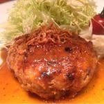 焼鶏 あきら 鳥のハンバーグ(._.)