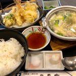 連れは天ぷらも付いた豪勢な新喜楽定食!
