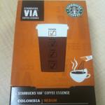 スタバのインスタントコーヒー「VIA」飲んだ!なかなかのスタバ感。