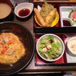 かにチャーハンの店 筑紫野店カニ玉膳 ちゃんとカニが入ってて美味しかったです。天ぷらの茄子に切込みが入ってたり意外と細かいお仕事でした。