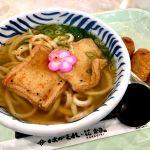 神戸三田のアウトレットのフードコートのはがくれできつねうどんといなり寿司!どんだけキツネが好きなん