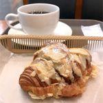 カスカード ゼスト御池店:クロワッサン ダマンドとコーヒー