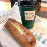 カフェ デュ モンド JR京都駅ビル店:チーズドッグとカフェオレ
