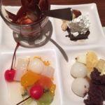 柿安 三尺三寸箸 玉川高島屋S・C店   デザート    チョコフォンデュと白玉、チョコケーキのクリームチーズ添えなど。スィーツは別腹!