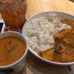 Soup Stock Tokyo Dila三鷹店  バターチキンカレーとオマール海老のスープ。濃いなぁ〜