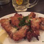 イタリア風 鶏の唐揚げ@海賊の台所。何がイタリア風かっていうと、パルメザンチーズがかかってる。あとは切り方?なんか細長い。#飯テロ