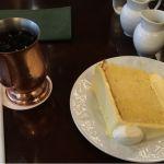 たまごシフォンケーキとアイスコーヒー