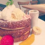 cafe & books bibliotheque 梅田店 どんなにお腹をすかせて行っても絶対お腹いっぱいになる満足感\(^o^)/ココナッツ効いてた!#パンケーキツアーズ