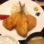 メンチカツ&アジフライ定食。@大かまど飯 寅福