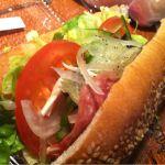 サブウェイ イオンモール福岡ルクル店/BLT¥370。野菜がたっぷり入っていてヘルシー♪♪カロリー表示もあるから助かる。