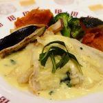 白身魚のグリル 秋野菜添え クリームソース (@BAQET 戸塚モディ店)