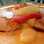 MANOA Aloha Table/【限定】グレープフルーツ カスタードとジュレのパンケーキ( ̄▽ ̄)パンケーキ生地が好みじゃなかった(u_u)