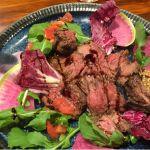牛ハラミのビステッカ。美味なり。ごちそうさま。 (@ 共恵一丁目バル Oggi)