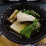 落合楼村上   温物   鰆鍋仕立て。鰆は冬が一番脂が乗っているとか。
