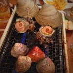 海鮮B.B.Q 浜印水産 浜焼きセット❤ 大あさり、ハマグリ、サザエ❤ どんどん焼いていきます~❤ 🐻