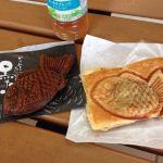 薄皮たい焼 銀のあん イオンモール浜松志都呂店の黒たい焼き(かりんとう)と、クロワッサンたい焼き