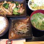 豚肉とチンゲン菜炒め定食