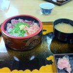 大食堂「渚」なう。これが、駿河丼だぁ!
