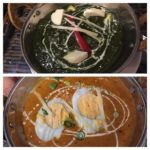 Dippalace 飯田橋サクラテラス店   ほうれん草カレーにひき肉と卵のカレー   よく煮込んであり味が練れています