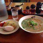 博多長浜風び 遅めのお昼(午後3時位)、半分やきめし定食を食す♪ #ramen