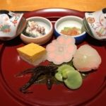 京懐石 美濃吉 そごう千葉店   前菜  季節の彩り7種盛り。おしゃべりに花が咲いて一つ一つの説明忘れました。