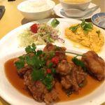 黄老 さんちか店で油淋鶏定食!前に来た時より、美味しくなってたよーー