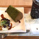 抹茶シフォンケーキ&アイスコーヒー