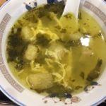 梅蘭 ららぽーと横浜店   スープ    菜の漬物の酸味がいいですね〜