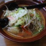 満龍 横浜店    野菜ラーメン(塩:800円)    スープが美味しかったが、この暑さで飲み干せなかった。