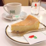イノダコーヒ コーヒーサロン支店:チーズケーキとコロンビアのエメラルド(ブレンドコーヒー)